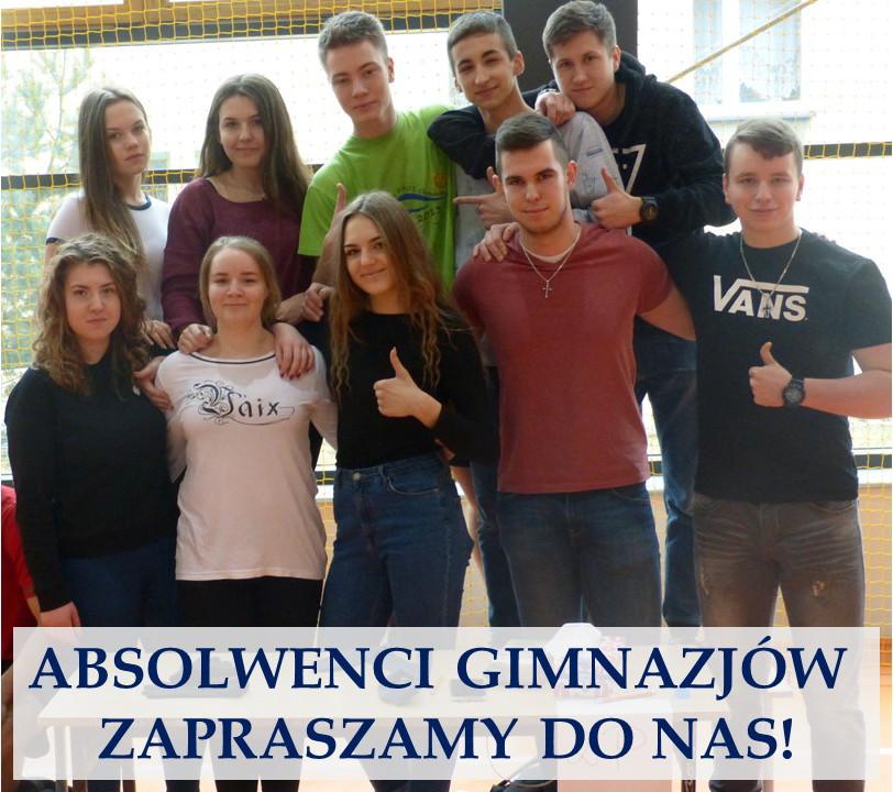 Absolwenci gimnazjów – zapraszamy!