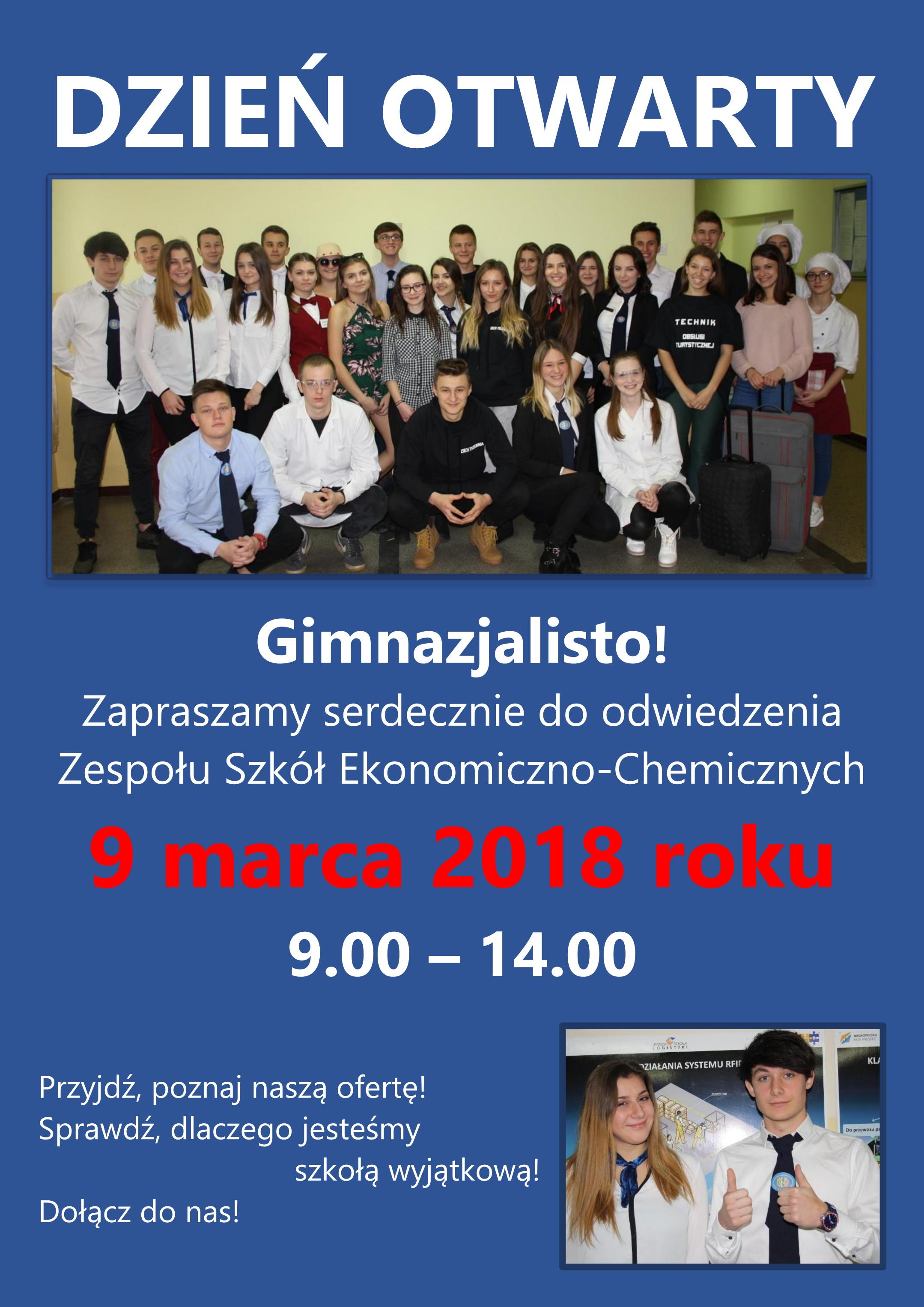 Dzień otwarty dla gimnazjalistów