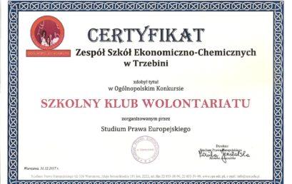 Ogólnopolski Konkurs Szkolny Klub Wolontariatu