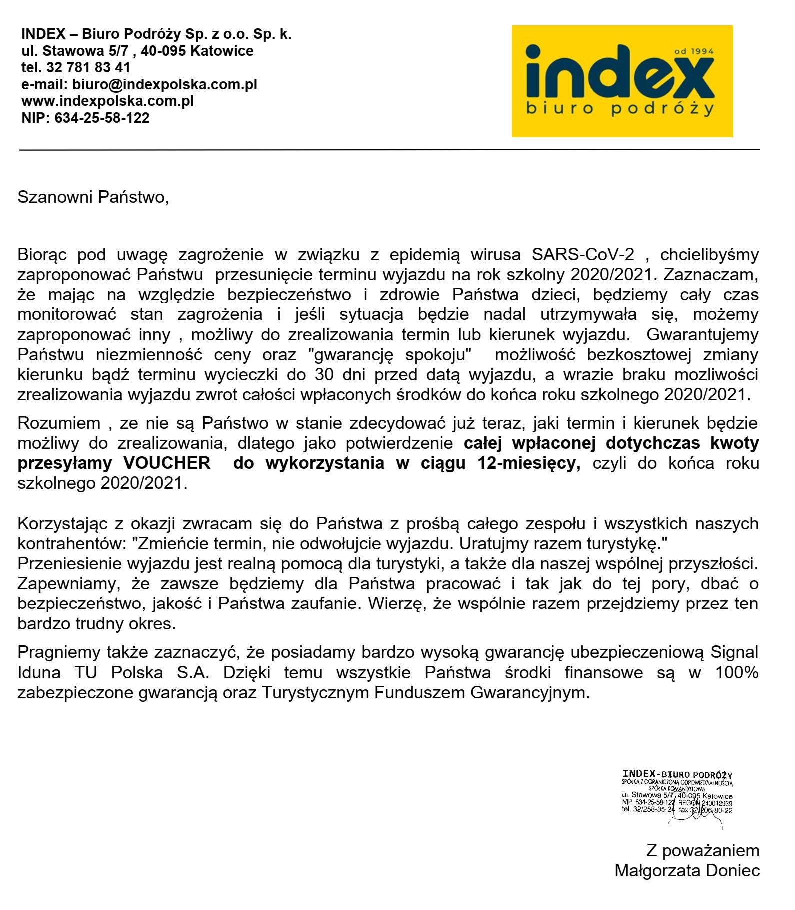 Uwaga! Informacja dla uczniów o wycieczce do Włoch
